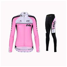 Mysenlan Rusuoo Womens Cycling Jersey Long Sleeve Spring Clothing Fantasy Bike Jerseys Set with Bike Pants AiQiXingpink XL >>> Details can be found by clicking on the image. (Note:Amazon affiliate link)