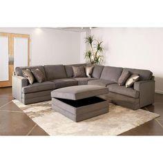 Contemporary Microfiber 3-Piece Sectional   Nebraska Furniture Mart  sc 1 st  Pinterest : nebraska furniture mart sectionals - Sectionals, Sofas & Couches