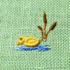 Драгоценные металлы Узел ручной вышивкой Утки для Подарки для ребенка