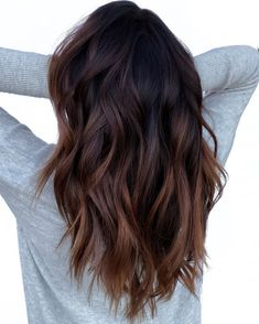 40 Most Popular Ombre Hair Ideas for 2020 - Hair Adviser Auburn Ombre Hair, Ombre Hair Brunette, Ombre Hair Color For Brunettes, Dark Ombre Hair, Brown Hair Balayage, Hair Highlights, Rich Brunette, Brown Ombre Hair Medium, Partial Balayage Brunettes