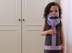 Celebritot Incognito Mustache Dress