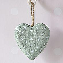 Hanging Heart Decoration-Sage Green