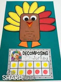 Build number sense with this adorable turkey craft! It's the perfect way to incorporate math instruction into your Thanksgiving unit! Math Classroom, Kindergarten Math, Teaching Math, Teaching Ideas, Classroom Ideas, Teaching Resources, Fun Math, Math Activities, Math Art