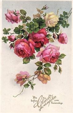 Fabric Painting, Painting & Drawing, Rice Paper Decoupage, Rose Flower Wallpaper, Hand Painted Fabric, Painted Roses, Rose Girl, Christmas Swags, Vintage Flowers