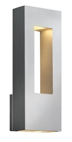 "Stunningly beautiful and very architectural. Use it for modern and clean outdoors that need highlighting at night....Hinkley Atlantis Titanium 16"" High Dark Sky Outdoor Light 