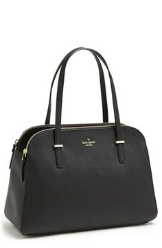 $368, Cedar Street Elissa Leather Tote Black by kate spade new york. Sold by Nordstrom. Click for more info: http://lookastic.com/women/shop_items/138276/redirect
