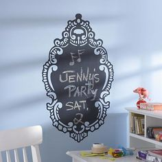 Kids wall decals world map chalkboard decal world map chalkboard kids wall decals ornate chalkboard wall decal gumiabroncs Gallery