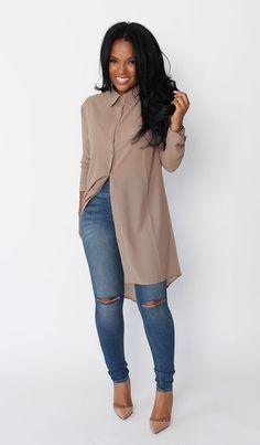 ¡Una prenda que continua en la Cima de la Moda: Maxi blusas o Blusas largas