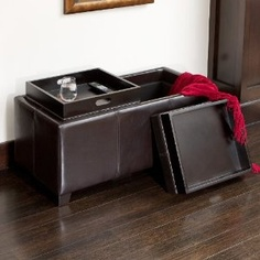 ottoman/bench with storage and 2 flip top trays sold on amazon.com