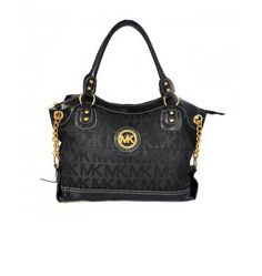 Michael Kors Jacquard Cheap Bags Monogram Large Black Satchels Outlet Online.