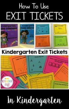 I love using exit tickets in kindergarten! They are truly the easiest and quickest way to gather the information I need for daily formative assessment!