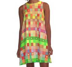 A-Line Dress, 'Multicolored Tapestry'