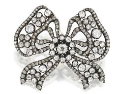 Marie Poutine's Jewels & Royals: Diamond Bow Brooch by Cartier early 1900's