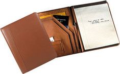 Andrew Phillips  Deluxe Writing Pad Holder - Tan Florentine Napa Leather