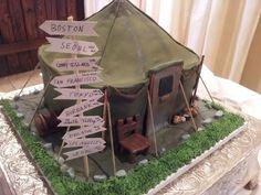 M*A*S*H tent cake by BellaRosa