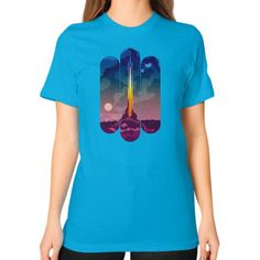 Space Invader Unisex T-Shirt (on woman)