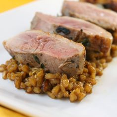 Duck with Cider-Farro Risotto