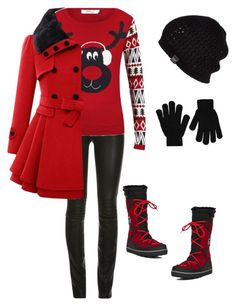 """""""Let's have a snow fight!!!"""" by smith-1979 ❤ liked on Polyvore featuring ONLY, SOREL, UGG Australia and Boohoo"""