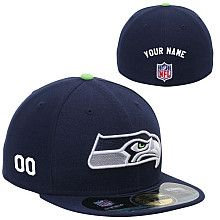 Men's New Era Seattle Seahawks Customized Onfield 59Fifty Football Structured Fitted Hat
