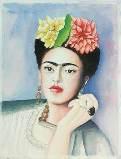 Aquarela Frida Kahlo