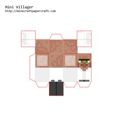 Papercraft Designs with tags 'villager' Minecraft Templates, Minecraft Images, Minecraft Blueprints, Minecraft Crafts, Minecraft Designs, Shapes Worksheet Kindergarten, Shapes Worksheets, Papercraft Minecraft Skin, Paper Toys