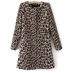59,90EUR Leopardenmantel Mantel in Leopardenmuster www.pinjafashion.com
