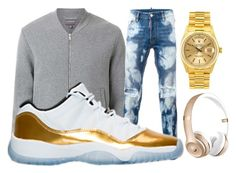 """T'S STYLE"" by tomboy-1-lol ❤ liked on Polyvore featuring Witchery, Dsquared2, Rolex, Beats by Dr. Dre, men's fashion and menswear"