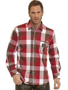 Trachtenhemd Syros (rot, fuchsia, braun) - Spieth & Wensky