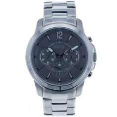 Fossil Men's FS4584 Stainless Steel Analog Grey Dial Watch Fossil. $92.59. Stainless steel case; Analog quartz movement; Case diameter: 43 mm; Water-resistant to 50 M (165 feet); Scratch resistant mineral