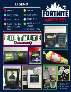 A personal favorite from my Etsy shop https://www.etsy.com/ca/listing/593906681/fortnite-theme-party-set-fortnite