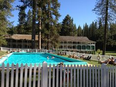 The pool at the Wawona Hotel in Yosemite National Park on a gorgeous day in June 2012