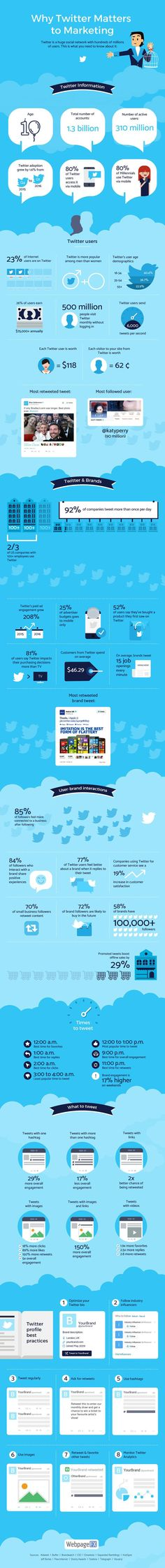 Using Twitter for Marketing Infographic. Topic: social media, business, entrepreneur, advertising, ad, tweets, retweets, internet promotion.