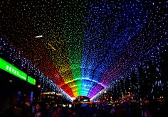 Rainbow Walk - located outside Raohe Nightmarket in Taiwan Taiwan, Travel Photos, Traveling By Yourself, The Outsiders, Travel Photography, Places To Visit, Rainbow, Travel Pictures, Rainbows