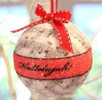 DIY ~ Christmas Ornament Spheres Tutorial including 3 free printable strips