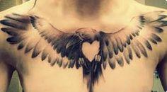 bird chest tattoo - Google Search