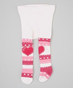 Look at this Naartjie Kids Hot Pink & Pink Stripe Heart Tights - Infant, Toddler & Girls on #zulily today!