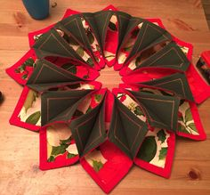 Fold and stitch wreath.  So much fun and so many options;)