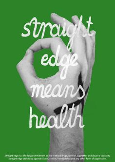 Straight Edge poster series on Behance