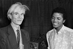 Andy Warhol and Michael Jackson 1980s