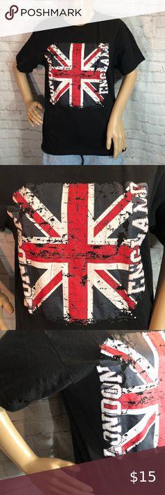 White//Grey NWT Girls Rock Royalty Union Jack Long Sleeve Glitter Top Size S 7//8