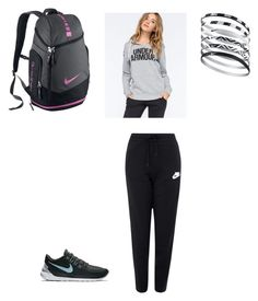"""lazy day"" by jessicariedemann on Polyvore featuring NIKE and Under Armour"