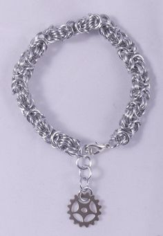 Silver Steampunk Chainmaille Bracelet / Silver by ChainPunk