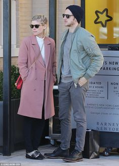 In the holiday spirit: Kate Mara headed to Barney's in Beverly Hills on Saturday for some ...
