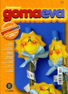 Revista de Goma Eva gratis Folder Decorado, Book Crafts, Tweety, Ideas Para, Origami, Felt, Baby Shower, Album, Pattern