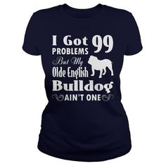 Name Olde English Bulldog dog Shirts & Tees