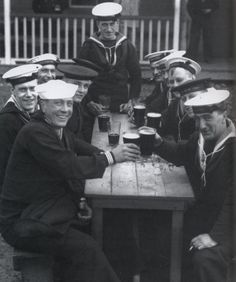 American and British Sailors  WWII