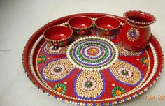 Image result for aarti thali decoration