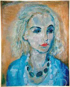 Portret van Karin Leyden (1930) | Jan Sluijters (1906 - 1977)
