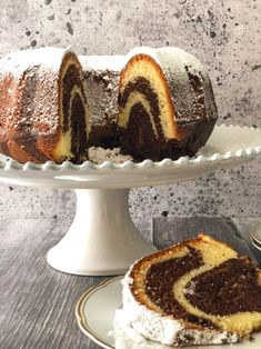 Marble Cake Recipe With Oil, Cake Recipes With Oil, Marble Cake Recipes, Greek Desserts, No Bake Desserts, Greek Cake, Homemade Pita Bread, Flavored Olive Oil, Lactose Free Milk