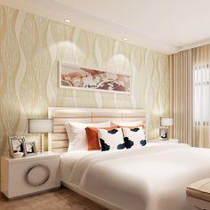 aliexpress simple wave stripes sculpture beibehang curve living esculturas moderna madera bedroom mayor